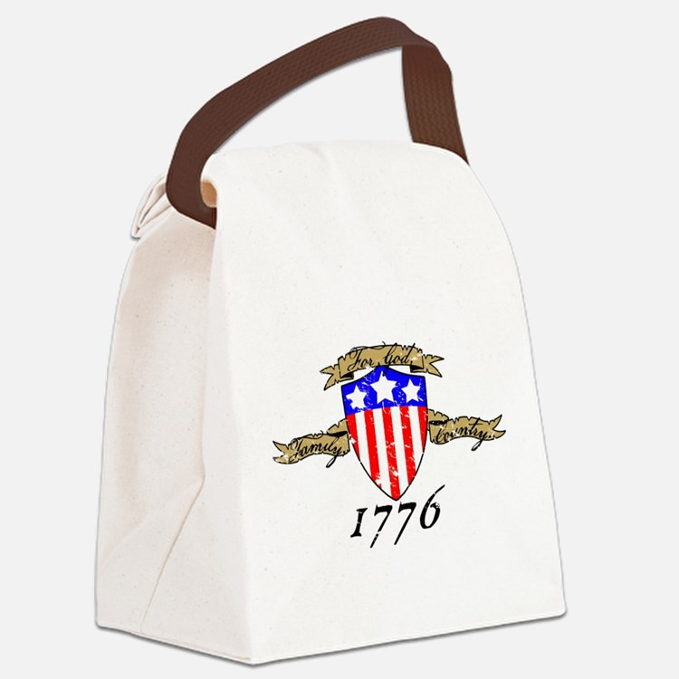 Cute God and country Canvas Lunch Bag