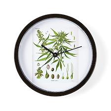 Cannabis Sativa Wall Clock