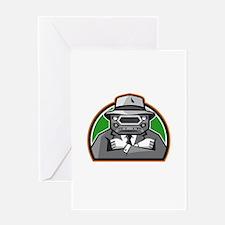 Mobster Car Grille Face Arms Folded Front Retro Gr