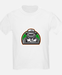 Mobster Car Grille Face Arms Folded Front Retro T-