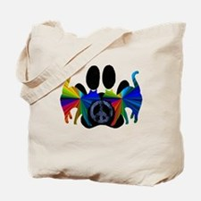 Cute Love peace art Tote Bag