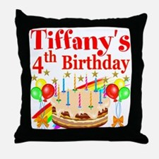 PERSONALIZED 4TH Throw Pillow