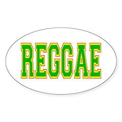 Reggae Oval Sticker