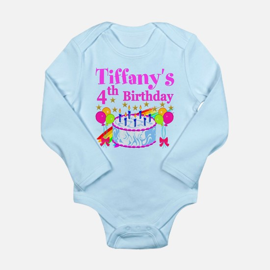 PERSONALIZED 4TH Long Sleeve Infant Bodysuit