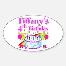 PERSONALIZED 4TH Sticker (Oval)