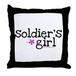 Soldier's Girl - Purple Throw Pillow