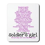 Soldier's Girl - Purple Mousepad
