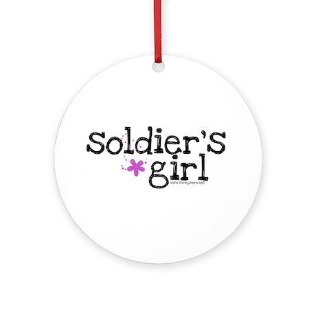 Soldier's Girl - Purple Ornament (Round)