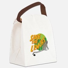 Save the Lemurs Canvas Lunch Bag