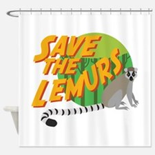 Save the Lemurs Shower Curtain