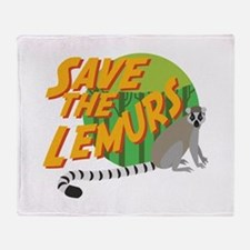 Save the Lemurs Throw Blanket