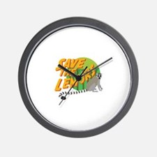 Save the Lemurs Wall Clock
