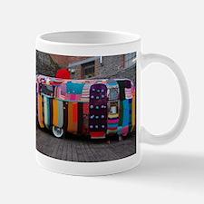 Knitted caravan cover Mugs