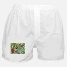 Irises & English Bulldog #1 Boxer Shorts