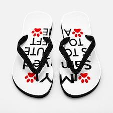 Samoyed Is Too Cute Flip Flops