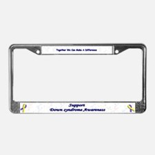 Cute Awareness License Plate Frame