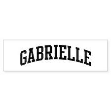 GABRIELLE (curve) Bumper Bumper Sticker