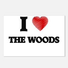 I love The Woods Postcards (Package of 8)
