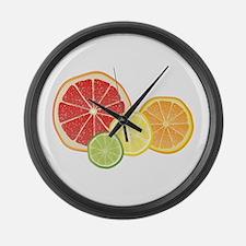 Citrus Fruit Large Wall Clock