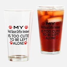 Petit Basset Griffon Vendeen Is Too Drinking Glass