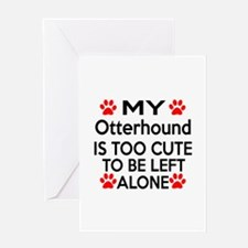 Otterhound Is Too Cute Greeting Card