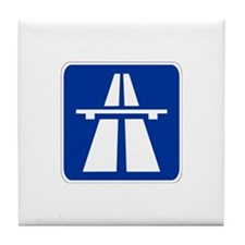 German Autobahn Tile Coaster