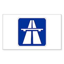 German Autobahn Rectangle Decal