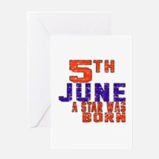 05 June A Star Was Born Greeting Card