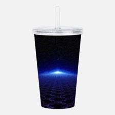 Time Portal In Space Acrylic Double-wall Tumbler