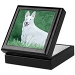 White German Shepherd Keepsake Box