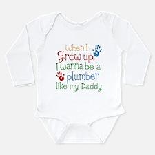 Plumber Like Daddy Long Sleeve Infant Bodysuit