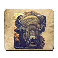 Buffalo Eating Mousepad