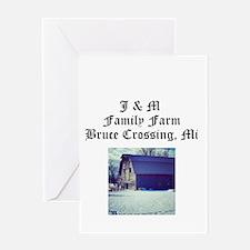 J M Family Farm Greeting Cards