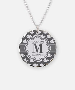 Gray Whale Pattern, Custom M Necklace
