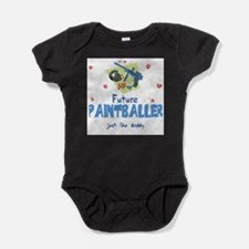 Funny Paintball gun Baby Bodysuit