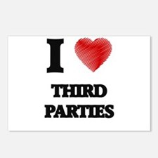I love Third Parties Postcards (Package of 8)
