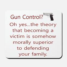 Gun Control. Mousepad