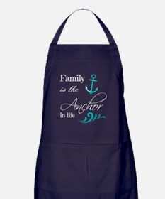 Cute Anchor Apron (dark)