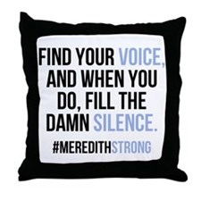 Grey's Anatomy: Find Your Voice Throw Pillow