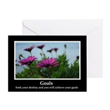 Goals Inspirational Greeting Card