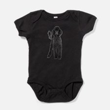 Unique Black and white dog Baby Bodysuit