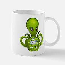 Green Alien Octopus Mugs