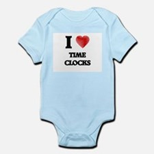 I love Time Clocks Body Suit