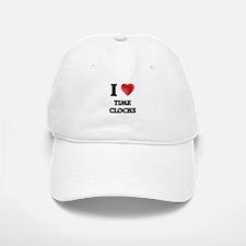 I love Time Clocks Baseball Baseball Cap