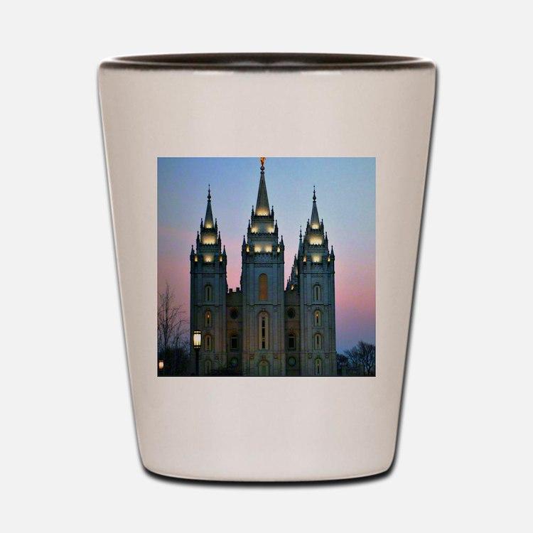 Cute Temples churches Shot Glass