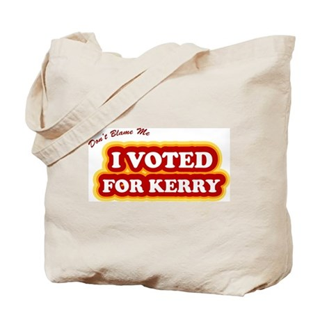 I Voted For Kerry Tote Bag