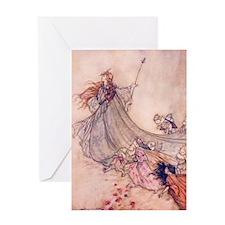Fairies Away! Greeting Cards