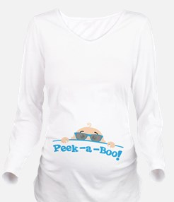 Peek a Boo! Long Sleeve Maternity T-Shirt