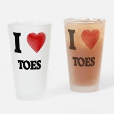 I love Toes Drinking Glass