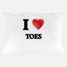 I love Toes Pillow Case